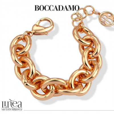Rose gold plated large forced chain bracelet