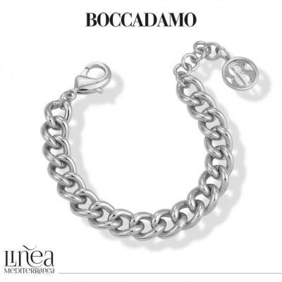Small silver gourmette bracelet