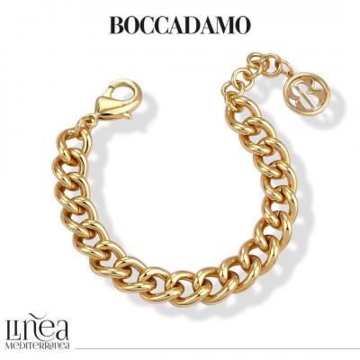 Yellow bronze small curb bracelet