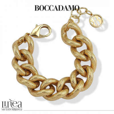 Yellow bronze cotroned curb bracelet