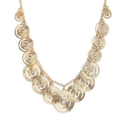 Necklace Gold Plated yellow with charms degradèe Swarovski