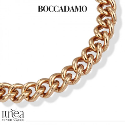 Big Curb Necklace in Pink Bronze