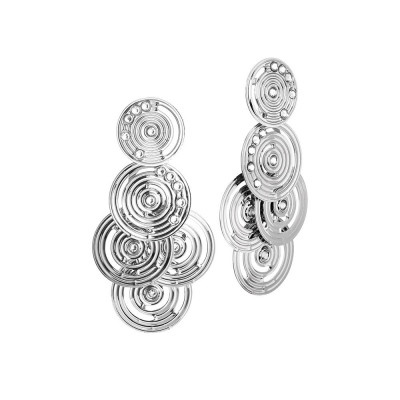 Cluster earrings from drawing concentric and Swarovski