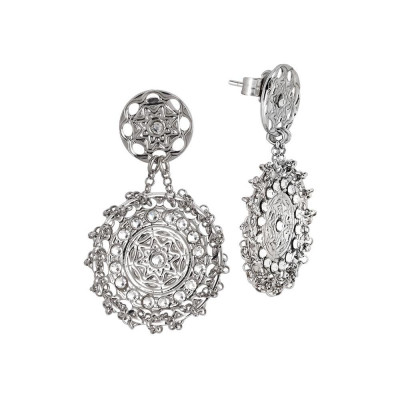 Earrings rodiati with decoration etruscan and Swarovski