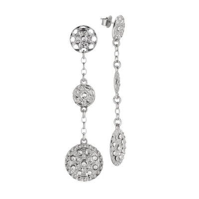 Pendant earrings with decorations of the Etruscans and Swarovski