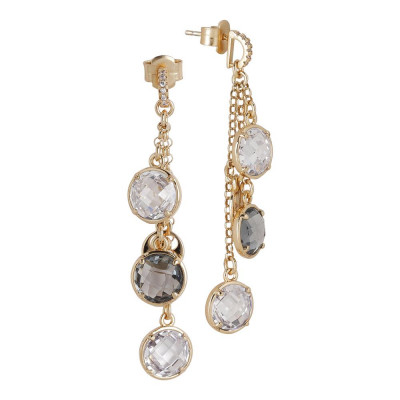 Earrings a sprig of crystals crystal and fumècon zircons
