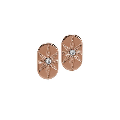 Rose gold plated stud earrings and Swarovski