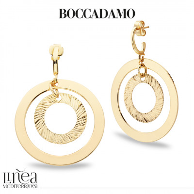 Concentric earrings yellow gold plated