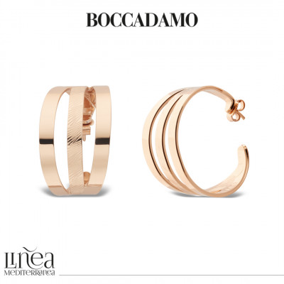 Rose gold plated crescent earrings