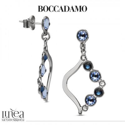 Pendant earrings with Swarovski crystal, montana and light sapphire