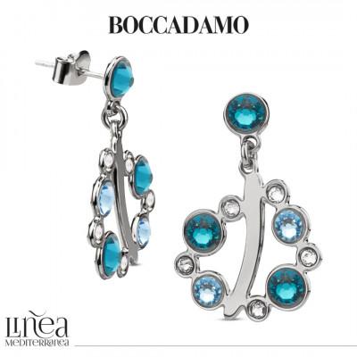 Earrings with Swarovski crystal, aquamarine and blue zircon