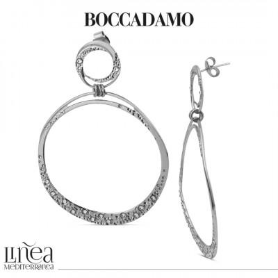 Large hoop earrings with Swarovski