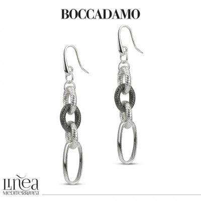 Silver chain earrings and cotroned ruthenium