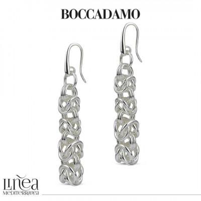 Medium Byzantine mesh silver earrings