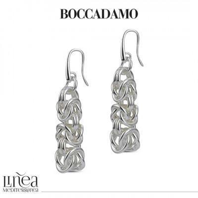Large silver Byzantine mesh earrings