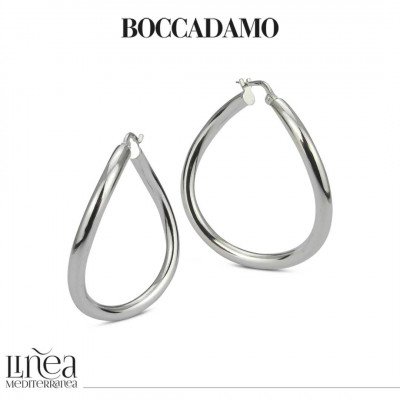 Silver earrings with irregular circle