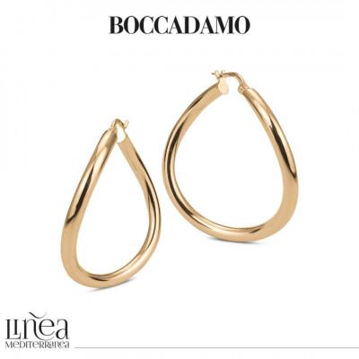 Yellow bronze earrings with irregular circle