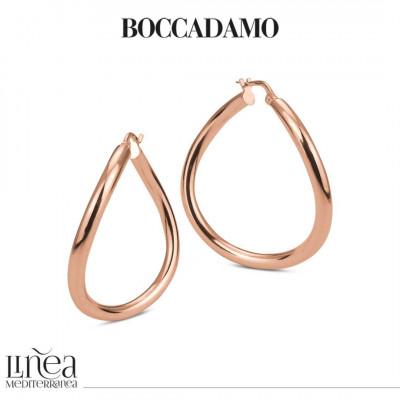 Pink bronze earrings with irregular circle