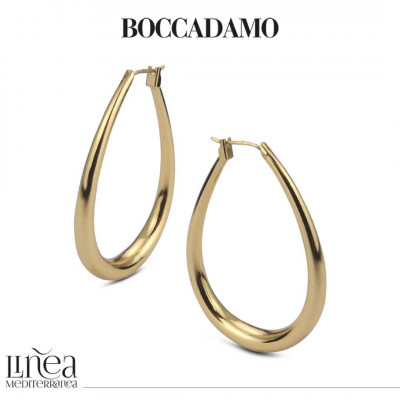 Yellow bronze drop earrings