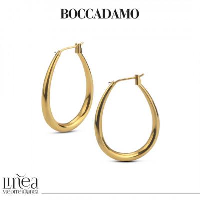 Yellow bronze hoop earring
