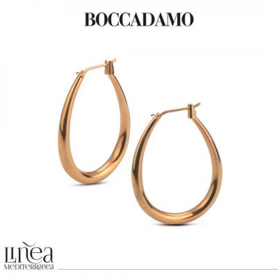 Pink bronze hoop earring