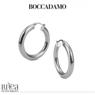 Silver full hoop earrings