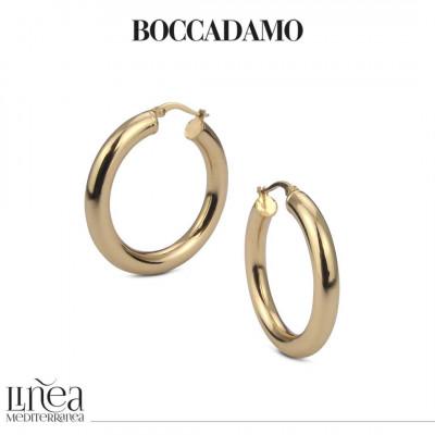 Yellow bronze full hoop earrings