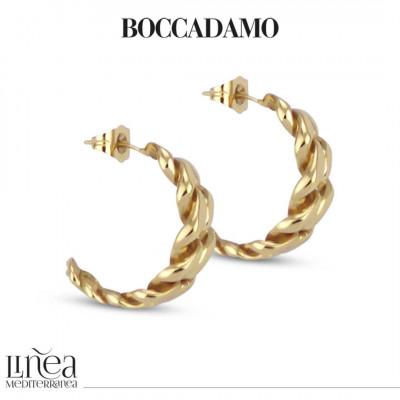 Yellow Bronze Curb Earrings