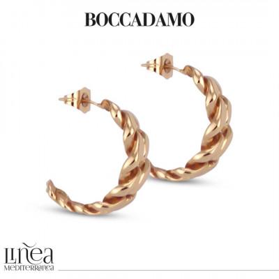 Curb earrings in pink bronze