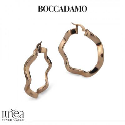 Pink bronze torchon earrings