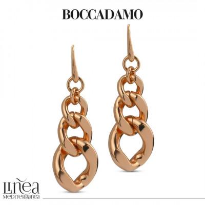 Curb earrings degrad in pink bronze