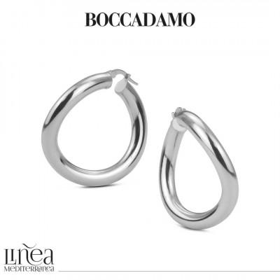 Smooth silver hoop earrings