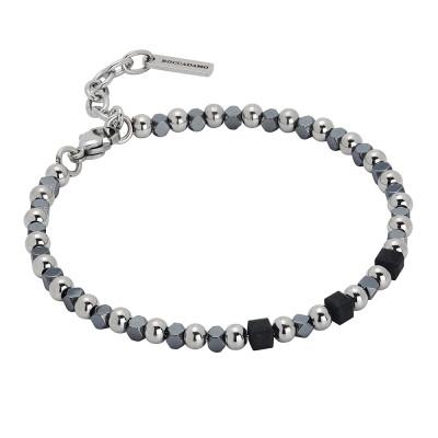 Bracelet with cubes of black hematite