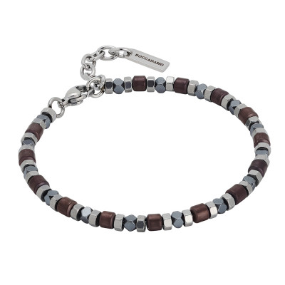 Bracelet with brown hematite decorations