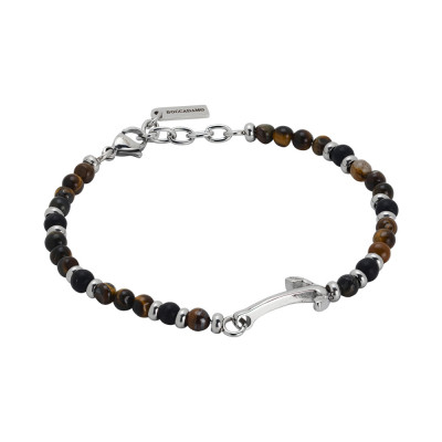 Bracelet with onyx and tiger eye