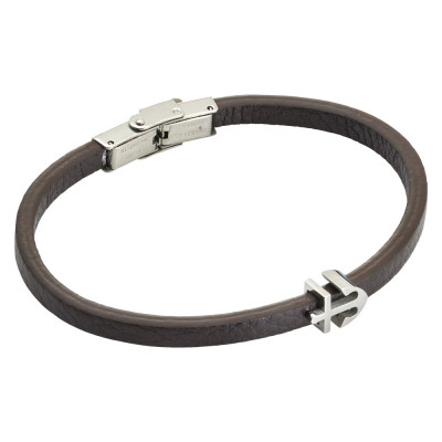 Brown and leatherette bracelet