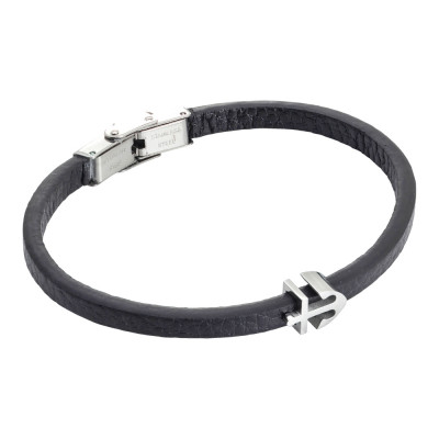 Black and leatherette bracelet