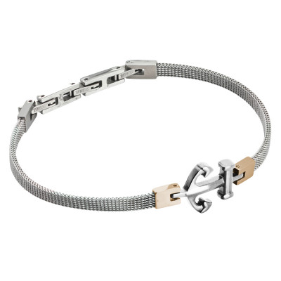 Milan mesh steel bracelet with anchor