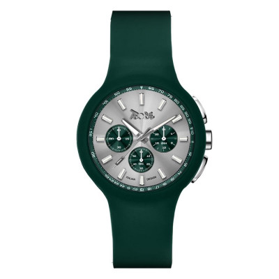 Clock in hypoallergenic silicone green and Green Counters