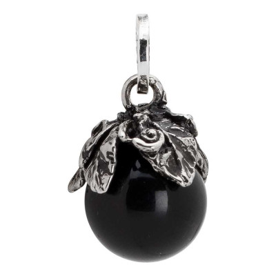 Charm with obsidian and cup leaves