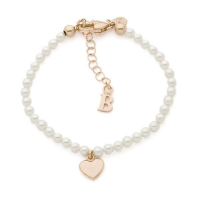 Bracelet with Swarovski beads and central heart