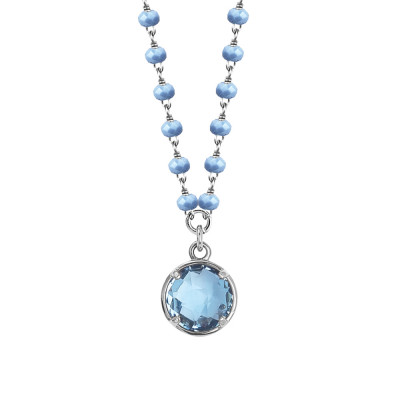 Necklace with celestial crystals and sky crystal pendant