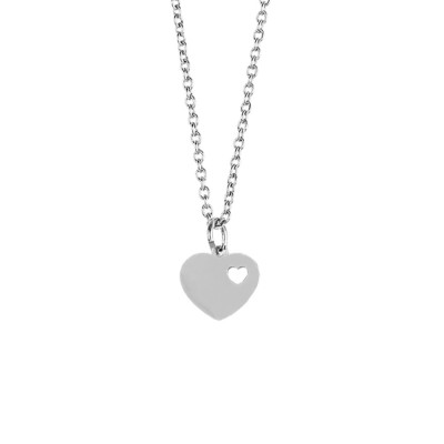 Necklace with openwork heart
