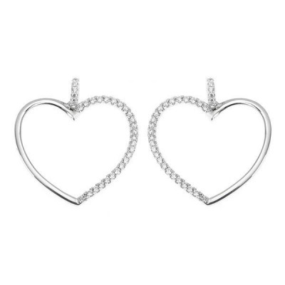 Earrings Pendant with a heart