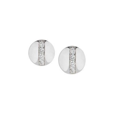 Rhodium-plated rhodium-plated earrings with zircons