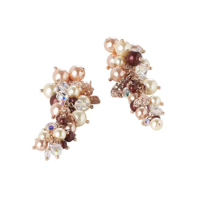 "Earrings composition and crystals Swarovski beads inspiration ""autumn"""