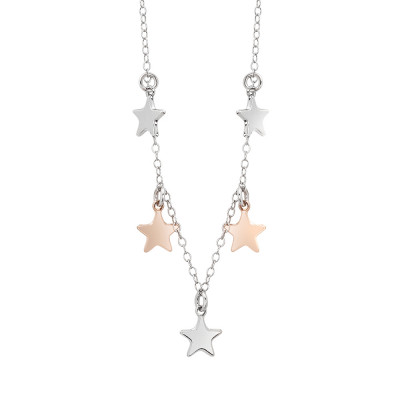 Necklace with charms in the shape of stars