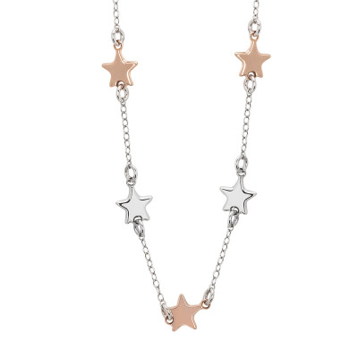 Necklace with bicolor stars