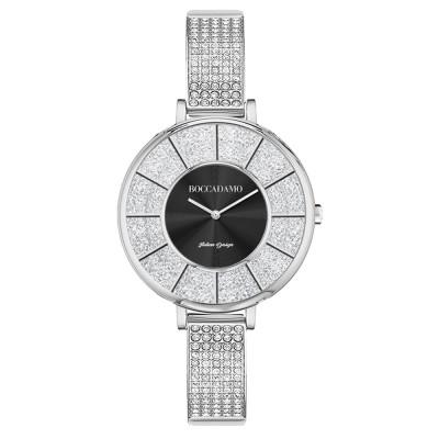 Silver watch with semi-rigid Swarovski strap