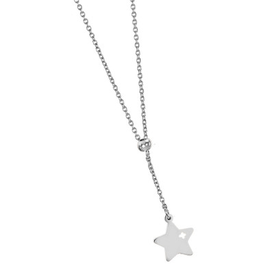 Necklace with hanging pierced star